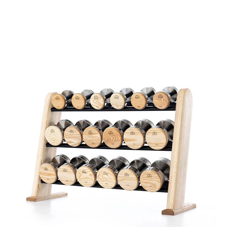 DumbBells Haltères en bois et acier